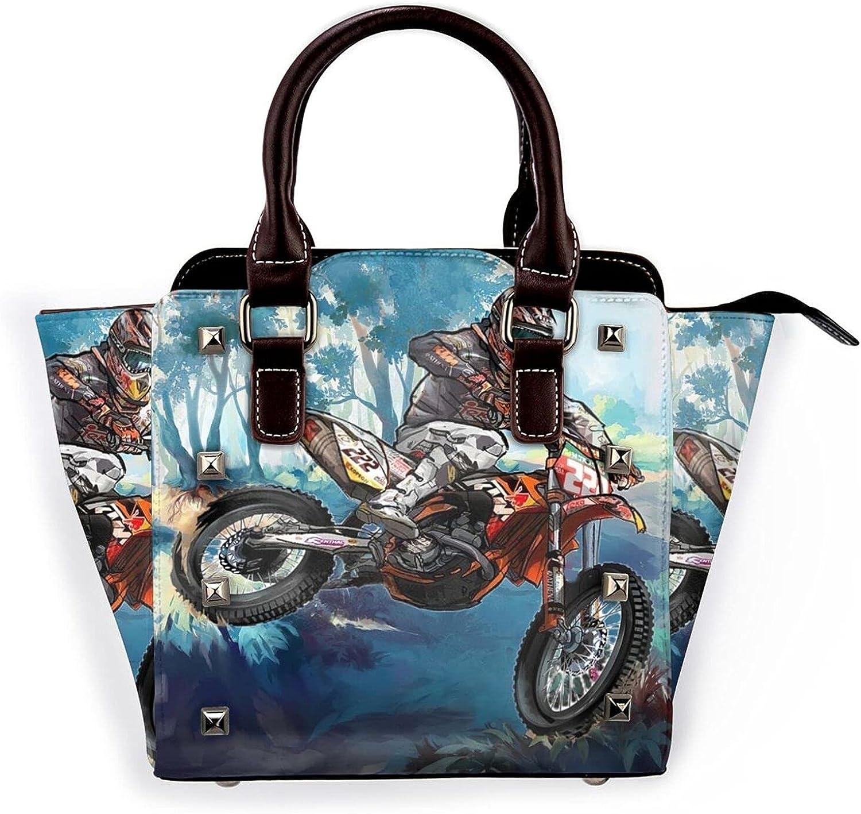 High Super popular specialty store Flyer Motocross Racer Leather Bag Product Shoulder Pu Rivet Handbag