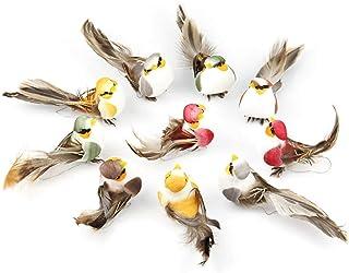 Artificial Bird, with Clip Fixing Artificial Feathered Birds Artificial Decor, Small Fake Decorative Foam Birds Feather Cu...