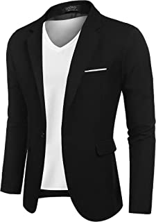 COOFANDY Men's Casual Sports Coats Jackets Lightweight Suit Blazer One Button