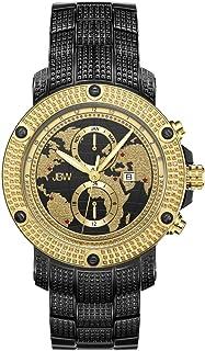 ساعة فيرون الفاخرة يزينها 18 حجر الماس وخريطة العالم على وجه المينا من جي بي دبليو للرجال