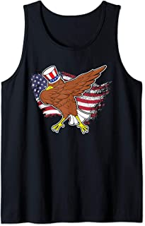 Dab For Freedom Merica Patriotic Dabbing Eagle 4th of July Tank Top