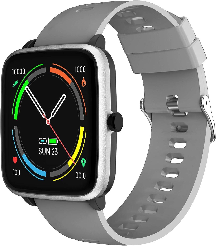 YENISEY Smartwatch, Reloj Inteligente Hombre con Contador de Calorías Monitor de Sueño Recordatorio de la Menstruación 10 Modos Deportivos y Registrador de Ruta y Encontrar Teléfono (Gray)