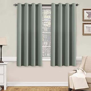 H.VERSAILTEX Blackout Room Darkening Thermal Insulated Grommet Window Curtain for Living Room, Sage,52x63-inch,Sold by 2 Panels