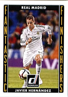 2015 Donruss Fantastic Finishers #6 Javier Hernandez Real Madrid Soccer Card
