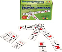 Learning Advantage The Original Fraction Dominoes - 45 Dominoes - Math Manipulative Game for Kids - Teach Equivalent, Adding and Subtracting Fractions