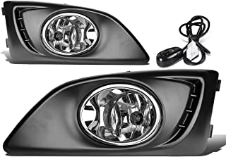 For Chevy Aveo/Sonic T300 Pair of Bumper Driving Fog Lights w/Bezel & Switch (Clear Lens)