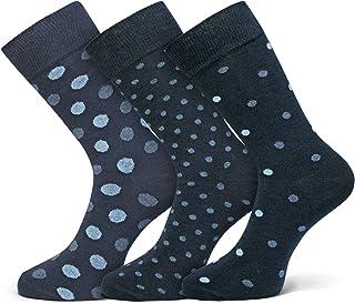 Softfabric, Calcetines clásicos de algodón transpirable para hombre, estilo informal, para hombre, 3 pares