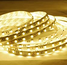 ABI Warm White LED Strip Light with Power Supply, 600 LEDs, 10 Meters / 32.8 Feet, 2800K, SMD5050, 24V DC
