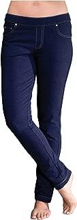 PajamaJeans Skinny Stretch Knit Denim Juniors Jeans, Indigo, X-Small / 0-2