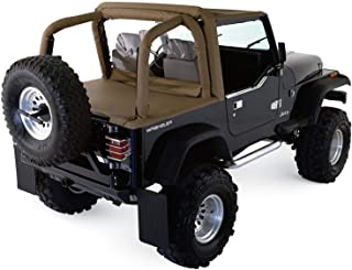 RAMPAGE PRODUCTS 769015 Roll Bar Full Padding Kit for 1997-2002 Jeep Wrangler TJ, Black Denim