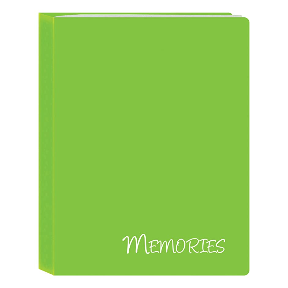 Pioneer Photo Albums I-46M/GN 36 Pockets Hold Memories Mini Photo Album, Green, 4