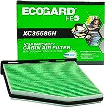 EcoGard XC35586H High Efficiency Premium Cabin Air Filter + Baking Soda Fits Volkswagen Jetta, Passat, Tiguan, Beetle, CC, GTI, Eos, Rabbit, Beetle | Audi Q3 Quattro, A3, Q3, TT Quattro