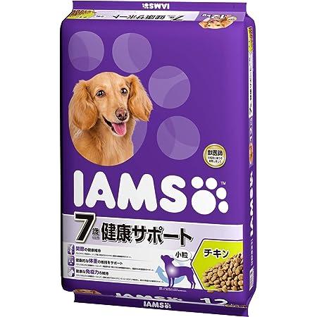 アイムス (IAMS) ドッグフード 7歳以上用 健康サポート 小粒 チキン シニア犬用 12kg