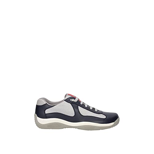 Prada Leather America's Cup Mesh Navy Trainers