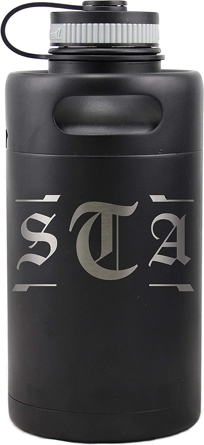 Personalized Etched Vacuum Insulated Max 76% OFF Beer Keg 64oz Bombing new work Matt Growler