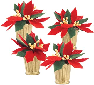 Department 56 Accessories for Villages Potted Poinsettias Accessory Figurine (Set of 4)