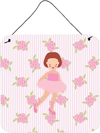 16 by 16 3dRose Little Ballerina-Red Hair Fifth Position-Pillow Case pc/_6122/_1