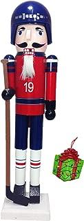 Hockey Player Sports Large Unique Decorative Holiday Season Wooden Christmas Nutcracker & Tree Ornament