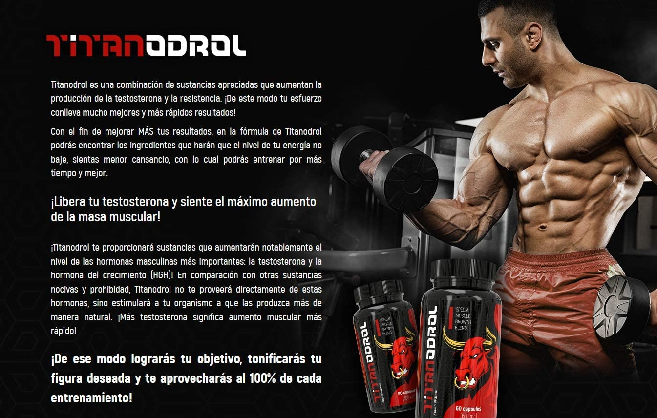 TITANODROL - The Bodybuilding Supplement, 2-Pack, Increases Your  Testosterone and Growth Hormone Levels, Faster Muscle Building, Enormous  Fat Burning, Free of Harmful Steroids, No Side Effects! : Amazon.co.uk:  Health & Personal Care