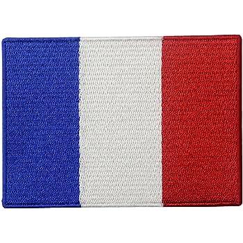 Bandera de Francia Francés Emblema nacional Parche Bordado de Aplicación con Plancha: Amazon.es: Hogar