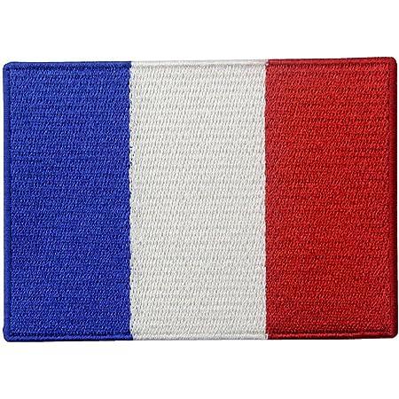 Bandiera della Francia Francese Emblema Nazionale Termoadesiva Cucibile Ricamata Toppa