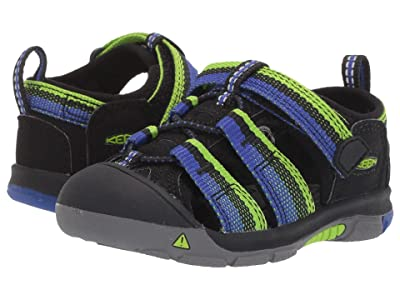 Keen Kids Newport H2 (Toddler) (Racer Black) Kids Shoes