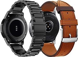 Syxinn Compatible con Correa de Reloj Gear S3 Frontier/Classic/Galaxy Watch 46mm Banda Pulseras de Repuesto, 22mm Acero Inoxidable Metal Pulsera para Moto 360 2nd Gen 46mm/Huawei Watch GT/GT 2 46mm
