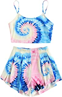 tie dye two piece outfit