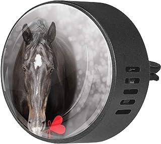 2pcs diffuseur d'aromathérapie diffuseur d'huile essentielle de voiture clip d'aération Valentine coeur cheval