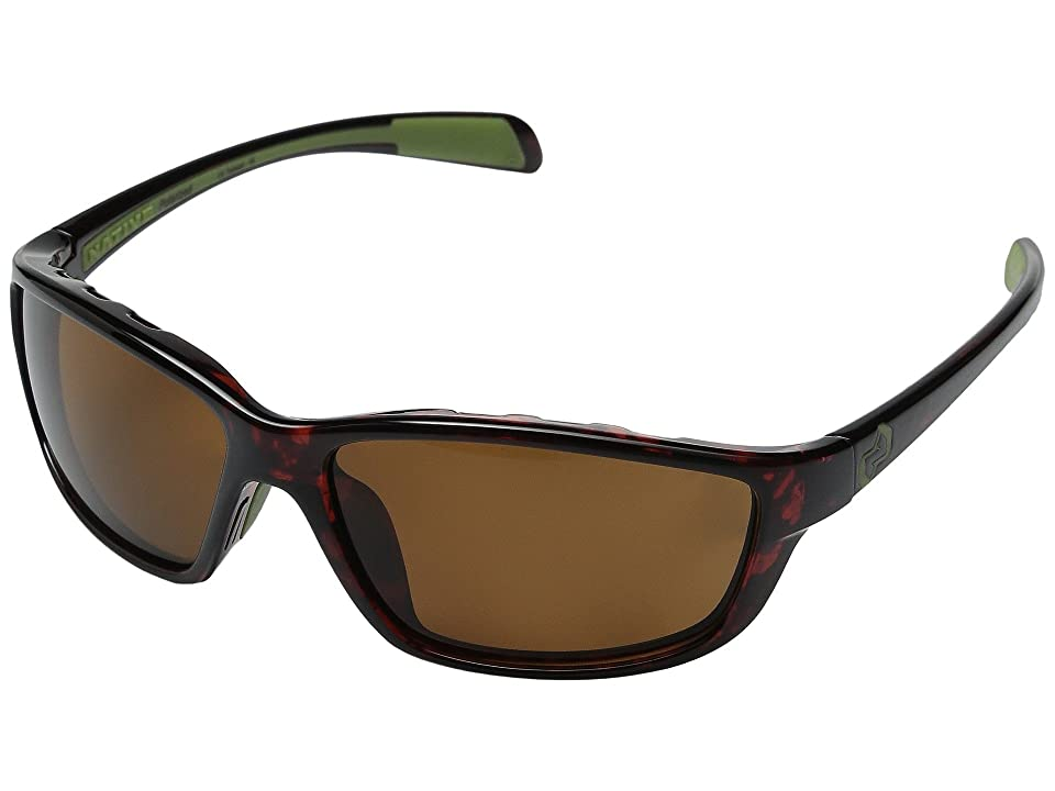 Native Eyewear Kodiak (Maple Tort/Brown Lens) Athletic Performance Sport Sunglasses