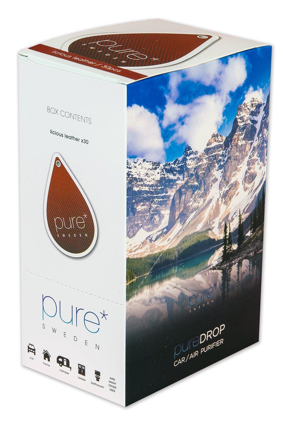 Amazon.es: Pure Drop, 30 piezas de caja de piel/mantel de piel, purificador de aire en papel, ambientador de coche unidad de limpieza de aire natural, purificador de aire para el hogar, activpureificador