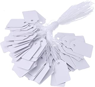 White Price Tags Paper Gift Marking Tags Strung Jewelry Price Labels Clothing Display Tag, 500 Pack(29 x 18 mm)