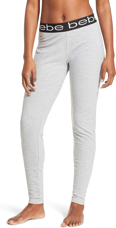Bebe Womens Jogger Lounge Sleep Pajama Pants Heather Grey 1XLarge