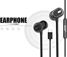 Nwark/Joie® USB Type C Earphones [Upgraded Version] Wired in-Ear Earbuds w/Mic, Noise Cancelling Sports Earphones Compatible with One Plus 7pro/7/6T (Black)