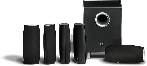 JBL CS6100BG High-Performance Complete 6-Piece Home Theater Speaker System with Brackets (Black Gloss)