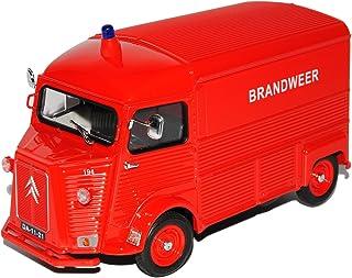 Welly Citroen Type H Transporter Kasten Rot Brandweer Feuerwehr 1/24 Modell Auto