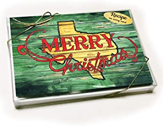 Texas Merry Christmas Card with recipe