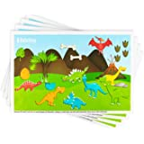 Disposable Placemats Stick-on for Baby & Kids Table Topper Disposable