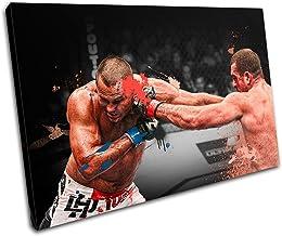 Bold Bloc Design - MMA Mauricio Shogun Rua Sports - 135x90cm Caja de lámina de arte lienzo enmarcado foto del colgante de pared - hecho a mano en el Reino Unido - enmarcado y listo para colgar - Canvas Art Print