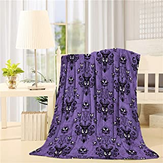 Flannel Fleece Bed Blanket 40 x 50 inch Halloween Throw Blanket Lightweight Cozy Plush Blanket for Bedroom Living Rooms Sofa Couch - Haunted Mansion