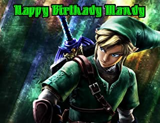 Legend of Zelda Edible Image Photo Cake Frosting Icing Topper Sheet Personalized Custom Customized Birthday Party - 1/4 Sheet - 79551