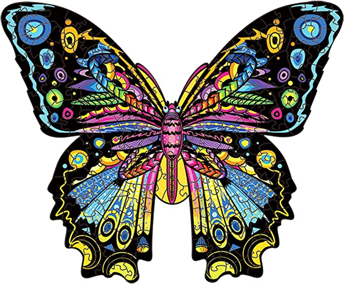 14 opinioni per Cuteefun Puzzle in Legno per Adulti Puzzle Animale di Forma Unica Farfalla