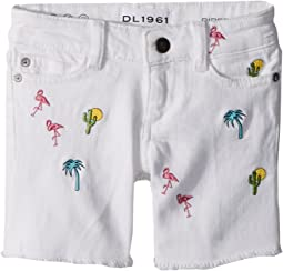 Piper Embroidered Cuffed Shorts in Palm Desert (Big Kids)
