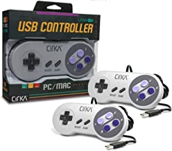 Hyperkin CirKa S91 Premium SNES-Style USB Controller for Mac/Windows PC, 6ft Cable Length, White 2-Pack (M07116)