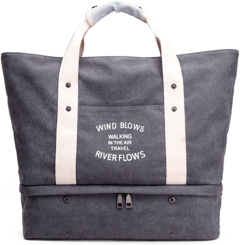 Bbdsj damen damen damen handtaschen,Damen fashion schultertasche,Canvas-tasche,Freizeit-handtasche,Einfach allzweck Kunst-handtaschen Lady grau einzelne umhängetasche-Grau B07897JV95  Angenehmes Gefühl 2edef9