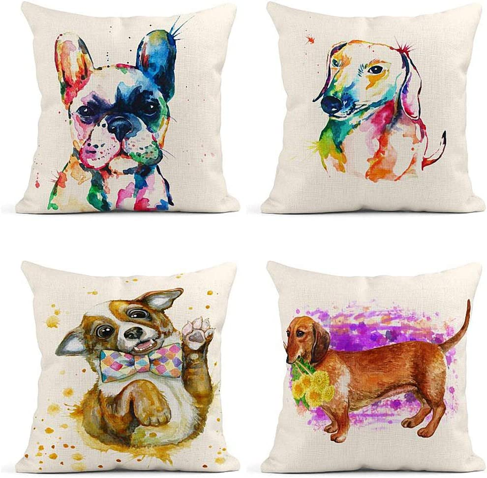ArtSocket Set List price of Industry No. 1 4 Throw Pillow Bulldog Covers W French Original