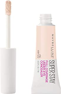 Maybelline New York Super Stay Super Stay Full Coverage, Brightening, Long Lasting, Under-eye Concealer Liquid Makeup For Up To 24H Wear, With Paddle Applicator, Ivory, 0.23 fl. oz.