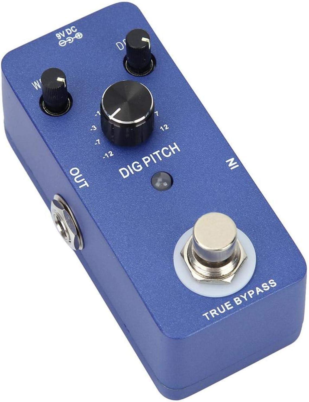 ± 1OCT Excelente rango de tono Pedal de efecto de guitarra de bypass verdadero con 9 tipos de cambio de tono, DIG PITCH Cambio digital Monobloque Pedal de efecto de guitarra eléctrica digital