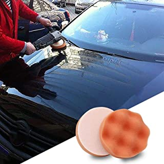 Car Polishing Disc Self-Adhesive Polishing Waxing Set for Automotive Polishing Machine M10 Threaded Abrasive Buffing Pad P...