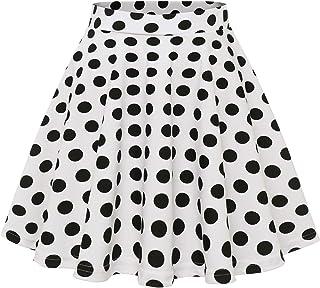 Wedtrend Mini Falda Básico Color Sólido con Elástica Casual Mujer